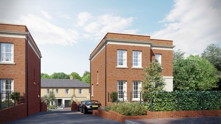 Exclusive collection of Regency mews-style townhouses